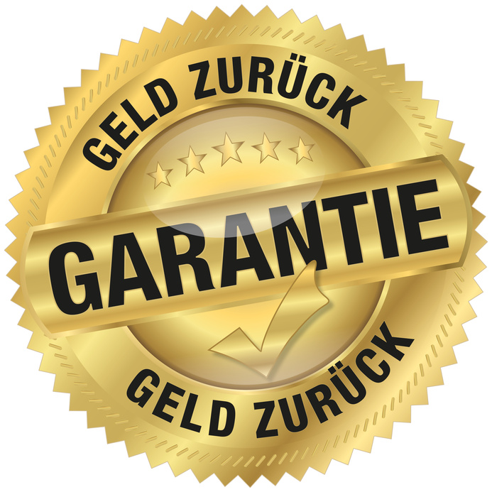 Geld zurück Grantie - Goldvignette
